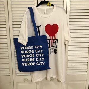 Shirts - The Purge Pack: Tee, Pin, Tote & Seeds
